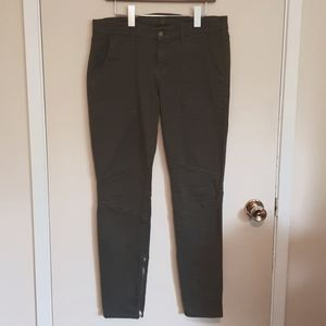 7 for all mankind cargo ankle zip skinny jeans